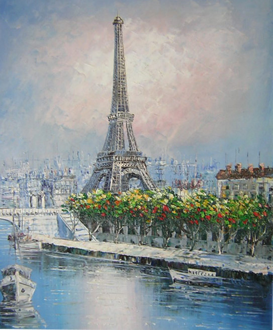 peinture tour eiffel sur toile tableaux paris d co. Black Bedroom Furniture Sets. Home Design Ideas