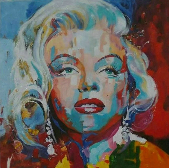 tableau moderne marilyn monroe pop art peinture sur toile. Black Bedroom Furniture Sets. Home Design Ideas